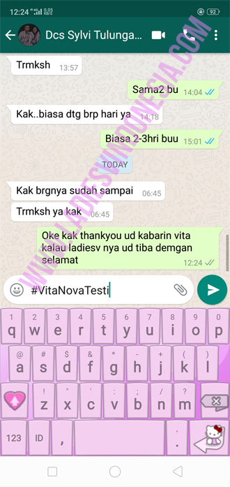 Testimoni Ladies V sampai